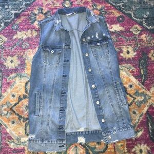 Over sized jean vest